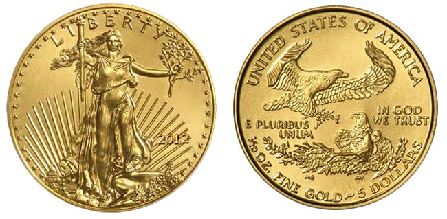 Gold American Eagle Coin - 1/10 oz