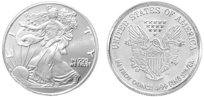 Walking Liberty Silver Round - 1/4 oz