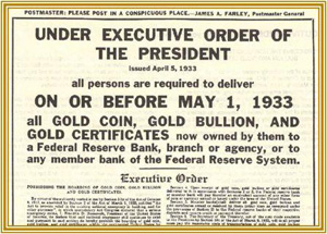 Executive Order #6102 - Franklin D. Roosevelt