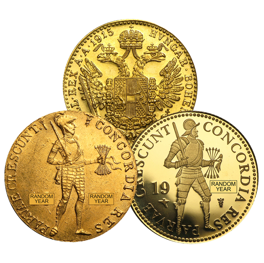 Austrian/Netherland 1 Ducat Gold Coins (.1107 actual gold weight) - only 6% over melt value