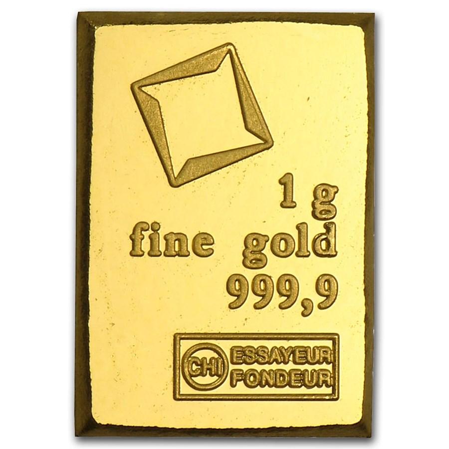 1 gram Gold Bar - Valcambi (not in assay)