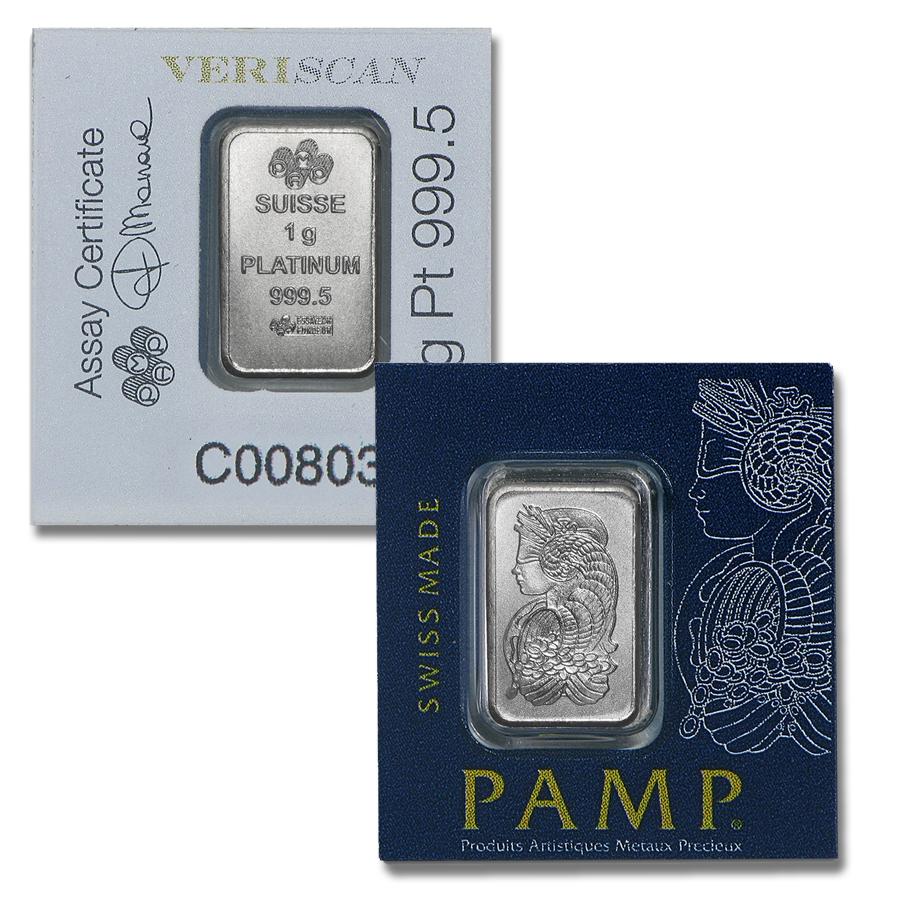 1 gram Platinum PAMP Bar