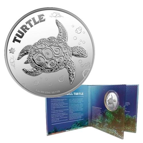 1-oz Silver Hawksbill Turtle (In display box)