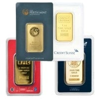 1 Oz Gold Bullion Bars for Sale