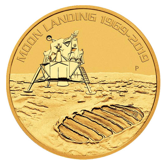 2019 1-oz Australian Anniversary of the Moon Landing Gold Coin