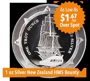 1 oz Silver HMS Bounty Coin Sale