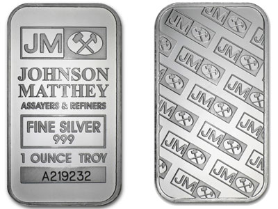 Johnson Matthey 1-oz Silver Bars