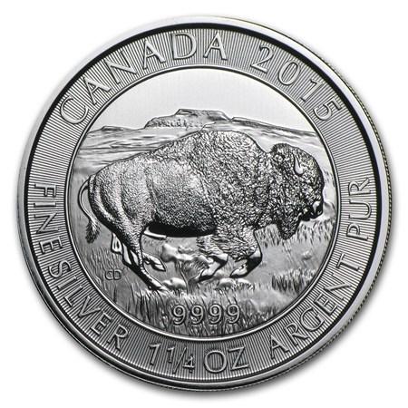 2015 1.25 Oz Silver Canadian Bison