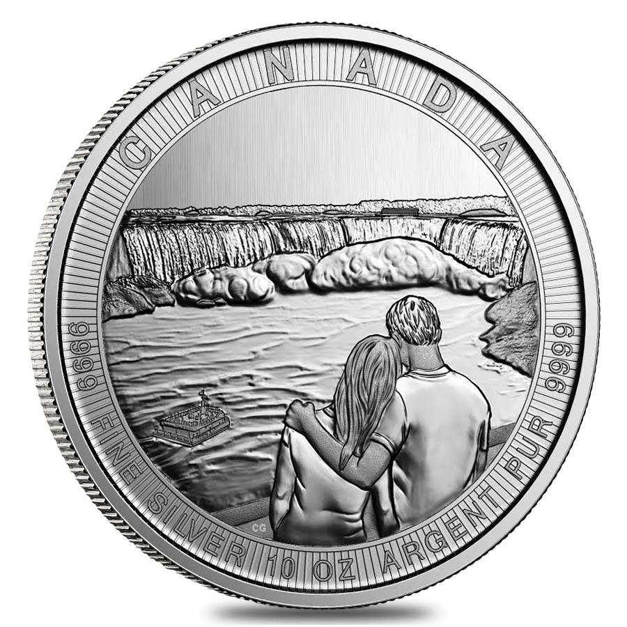 10-oz Royal Canadian Mint Niagara Falls Silver Coin
