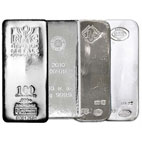 100-oz Silver Bar - Overstock Sale!