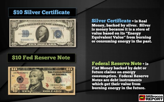 $10 Silver Certificate vs. $10 Federal Reserve Note