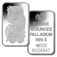10 Oz Palladium Bars