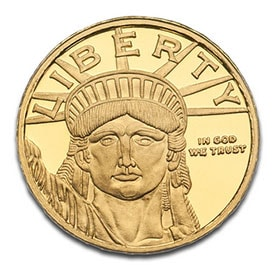 10oz Lady Liberty Gold Coin