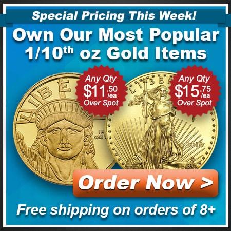 1/10th Oz Gold Items