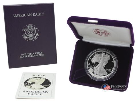 Proof Silver Eagles with Mint Box & COA -- only $39.95 while they last!