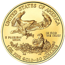 1 Oz Gold Eagles (Reverse)