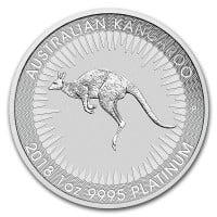1 oz Australian Platinum Kangaroo