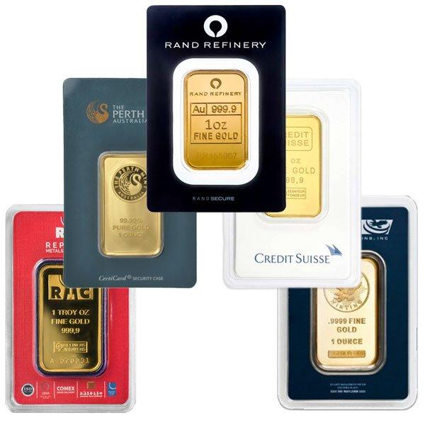 1-Oz Gold Bars -- Overstock Sale!