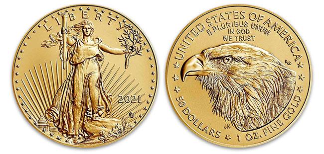 Gold American Eagle Coin - 1 oz