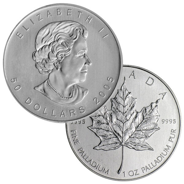 1oz Palladium Maple Leaf Coin
