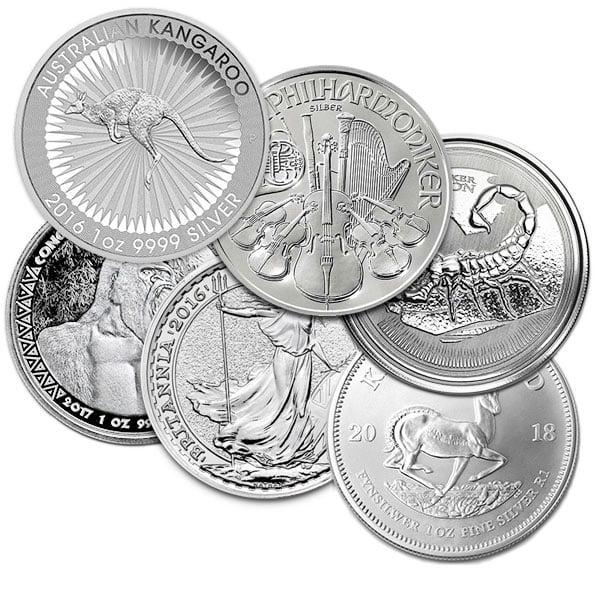 Random Design 1-oz Government Mint Pure Silver Coins