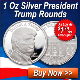 1 Oz Silver President Trump Rounds | Shop Now >>