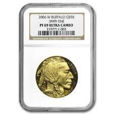 2006-W PF69 Ultra Cameo Gold Buffalo