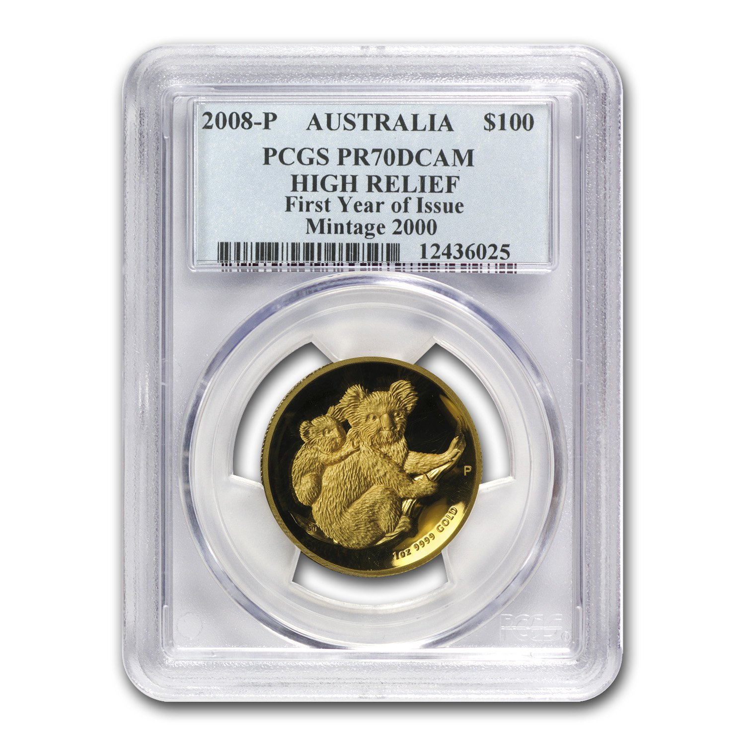 2008-P Australia 1-oz Gold Koala (First Year of issue)