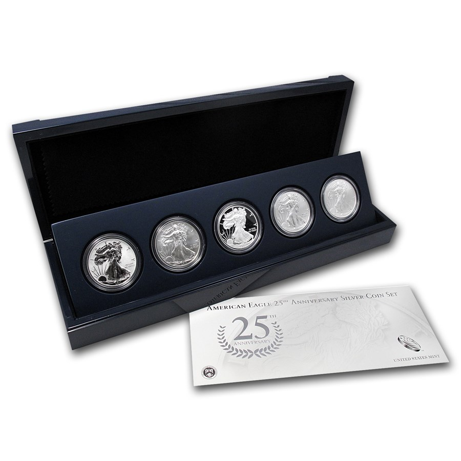5-Coin American Silver Eagle Sets