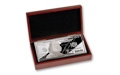 $100 1-oz Silver Proof (in wood box w/ COA)