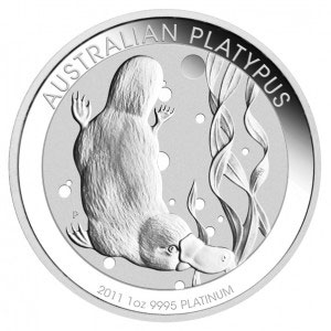 Platinum platypus coin from Australia's Perth Mint