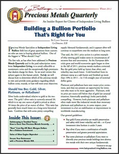 Precious metals quarterly newsletter