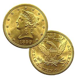 Historic Liberty gold coin