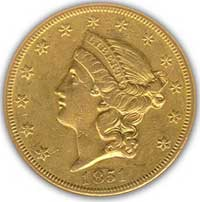19th century Liberty gold coin