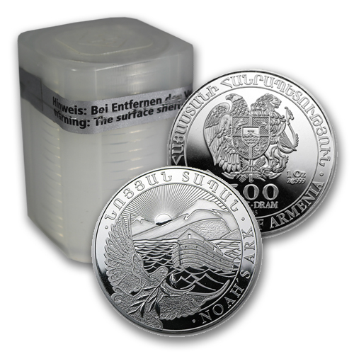 2015 1-oz Armenian Silver Noah's Ark Coin