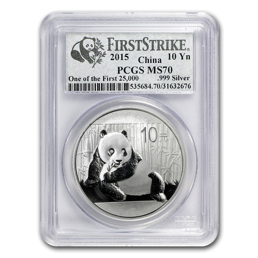 REDUCED PRICE - 2015 First Strike Chinese 1-oz Silver Panda - PCGS MS70