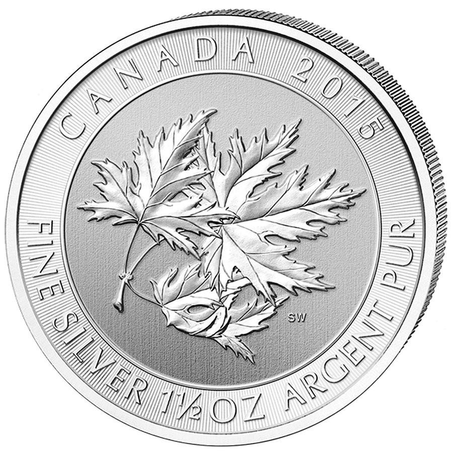 2015 Super Leaf - 1.5 Oz Royal Canadian Mint Silver Maple Leaf - As lows as $1.69/oz over spot!!!