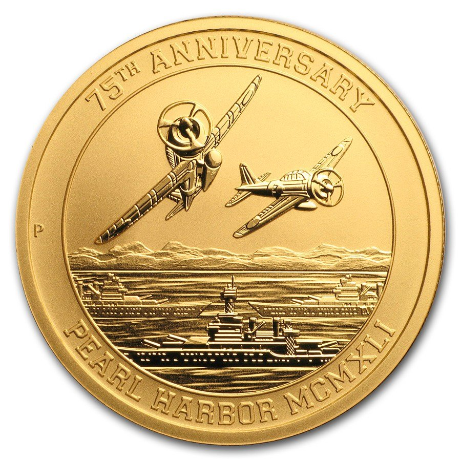 2016 1-oz Gold Perth Mint Pearl Harbor