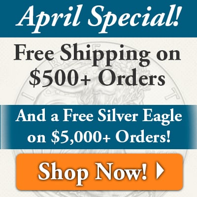 Free Shipping $500+, Free Silver Eagle $5,000+