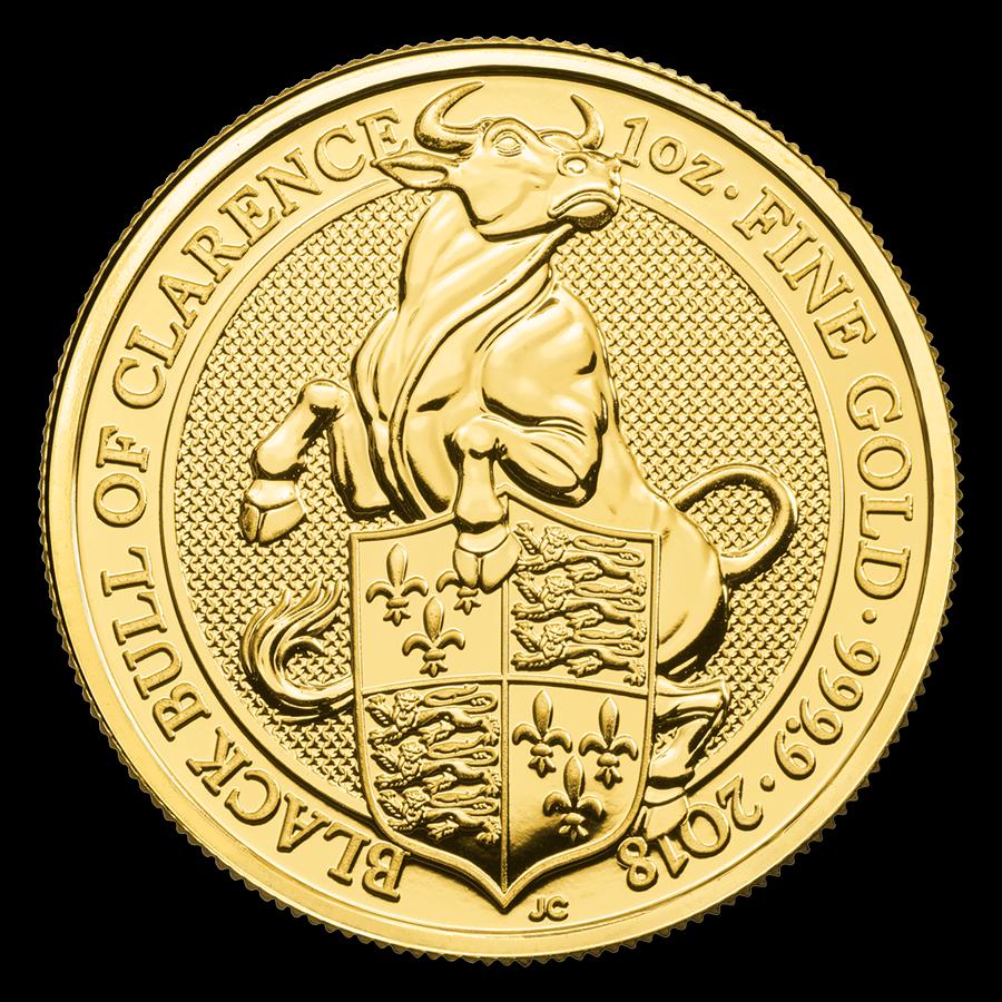 British Royal Mint Queen's Beast; Black Bull - 1-oz REDUCED