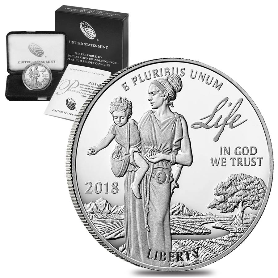 2018-W 1 oz Proof Platinum American Eagle (with box and COA)
