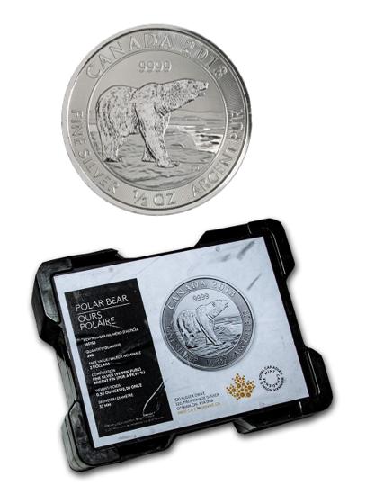 Half Ounce Canadian Polar Bear Silver Coins