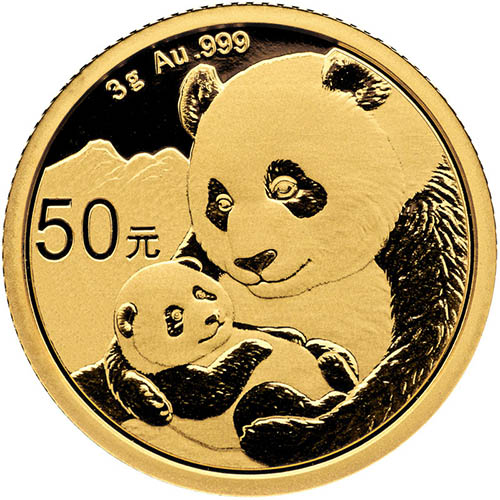 2019 3 Gram Gold Chinese Panda! (0.0964 Troy ounces)