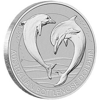 Perth Mint 1/3-oz Platinum Dolphin Coin - only 15% over melt