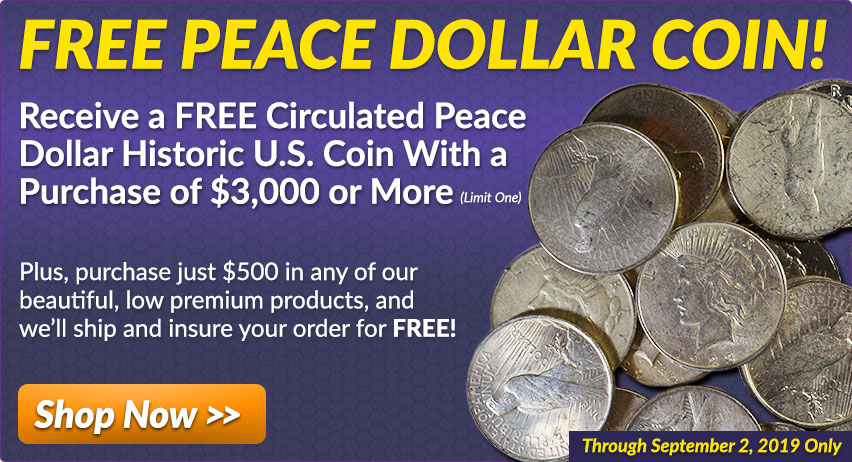 Buy Free Peace Dollar Coins from Money Metals Exchange