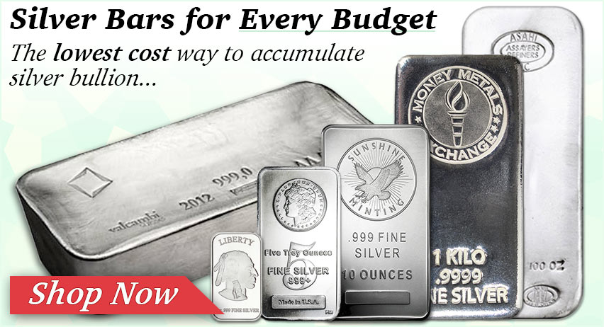 Silver Bars for Every Budget! Shop Now >>