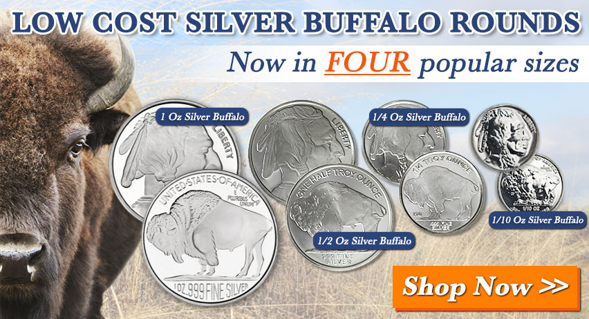 Buy Buffalo Silver Rounds from Money Metals Exchange