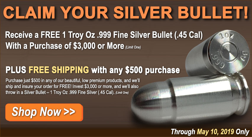 Silver Bullion Bullets for Sale from Money Metals Exchange