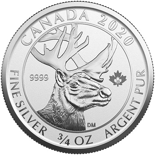 2020 Canadian 3/4-oz Silver Woodland Caribou Coins