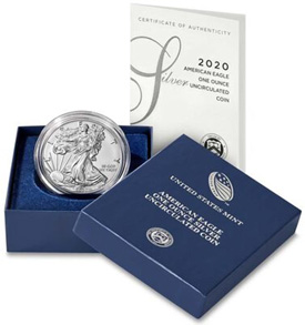 2020 American Silver Eagle: Uncirculated Coin Set